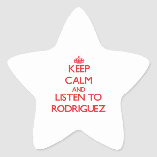 Keep calm and Listen to Rodriguez Star Sticker