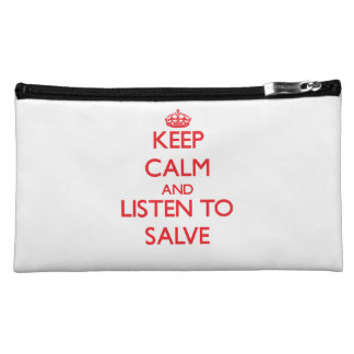 Keep calm and listen to SALVE Makeup Bag