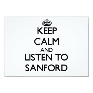 Keep Calm and Listen to Sanford Invitations