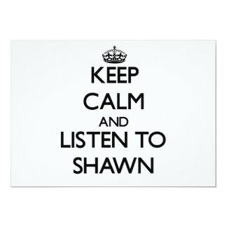 "Keep Calm and Listen to Shawn 5"" X 7"" Invitation Card"