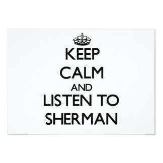 Keep calm and Listen to Sherman Personalized Announcements