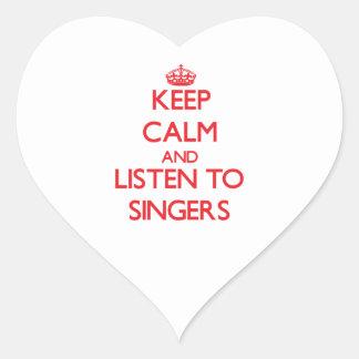 Keep calm and listen to SINGERS Heart Sticker
