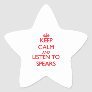 Keep calm and Listen to Spears Star Sticker
