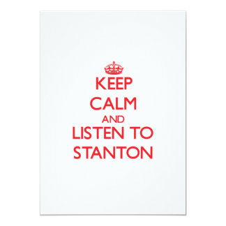 Keep calm and Listen to Stanton Cards