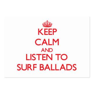 Keep calm and listen to SURF BALLADS Business Card Template