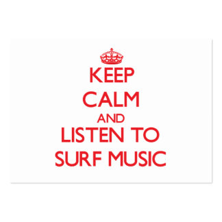 Keep calm and listen to SURF MUSIC Business Card Template