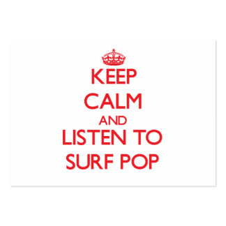 Keep calm and listen to SURF POP Business Cards