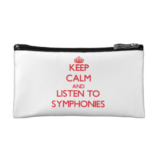 Keep calm and listen to SYMPHONIES Cosmetic Bags