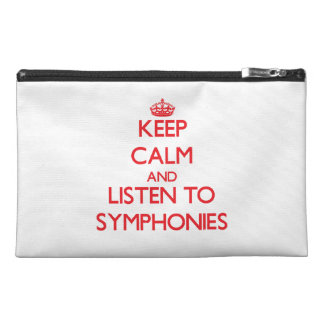 Keep calm and listen to SYMPHONIES Travel Accessories Bags