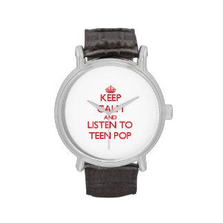 Keep calm and listen to TEEN POP Wristwatches