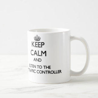 Keep Calm and Listen to the Air Traffic Controller Coffee Mug