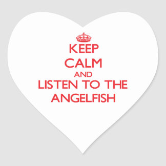 Keep calm and listen to the Angelfish Heart Stickers