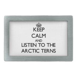 Keep calm and Listen to the Arctic Terns Rectangular Belt Buckles