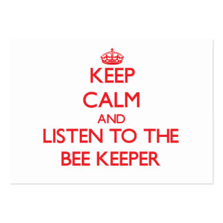 Keep Calm and Listen to the Bee Keeper Business Cards