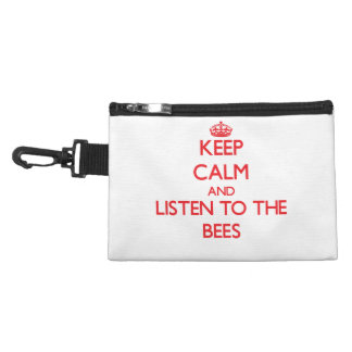 Keep calm and listen to the Bees Accessories Bags