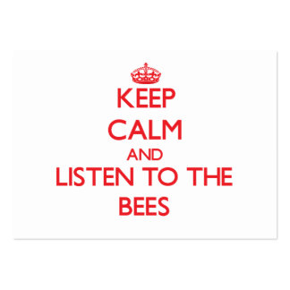 Keep calm and listen to the Bees Business Card Template