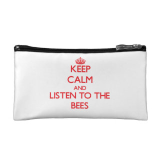 Keep calm and listen to the Bees Makeup Bag