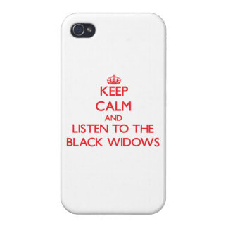 Keep calm and listen to the Black Widows iPhone 4/4S Cover