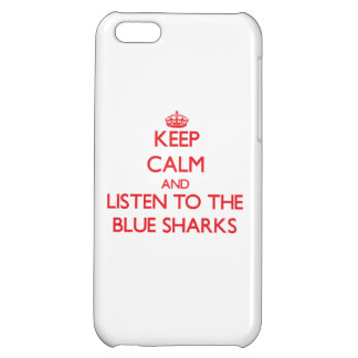 Keep calm and listen to the Blue Sharks iPhone 5C Covers