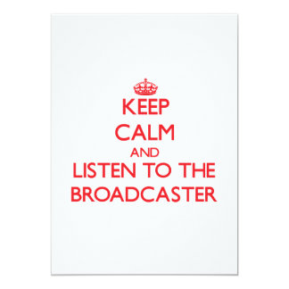 Keep Calm and Listen to the Broadcaster Personalized Announcement