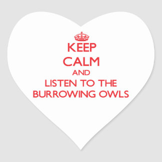 Keep calm and listen to the Burrowing Owls Sticker