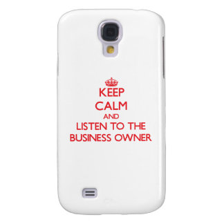 Keep Calm and Listen to the Business Owner HTC Vivid Covers