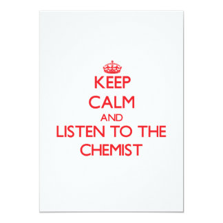 Keep Calm and Listen to the Chemist Announcements