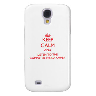 Keep Calm and Listen to the Computer Programmer HTC Vivid Cover