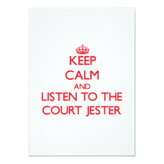 Keep Calm and Listen to the Court Jester 5x7 Paper Invitation Card