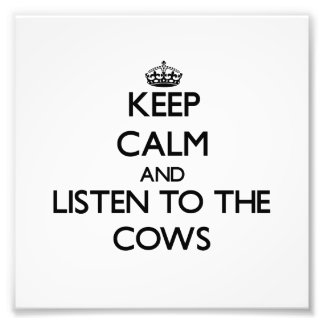Keep calm and Listen to the Cows Photo Art