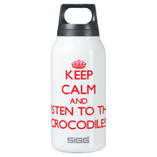 Keep calm and listen to the Crocodiles SIGG Thermo 0.3L Insulated Bottle