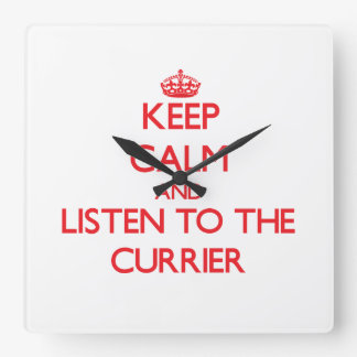 Keep Calm and Listen to the Currier Wall Clock