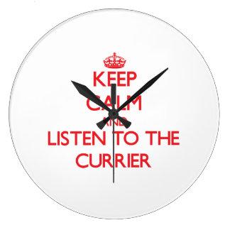 Keep Calm and Listen to the Currier Wallclocks