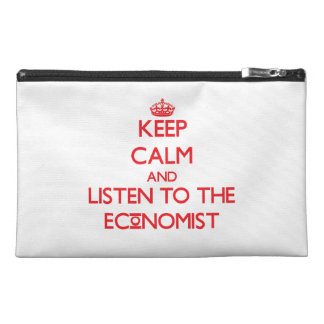Keep Calm and Listen to the Economist Travel Accessories Bag