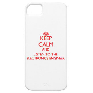 Keep Calm and Listen to the Electronics Engineer iPhone SE/5/5s Case