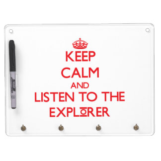 Keep Calm and Listen to the Explorer Dry-Erase Whiteboards