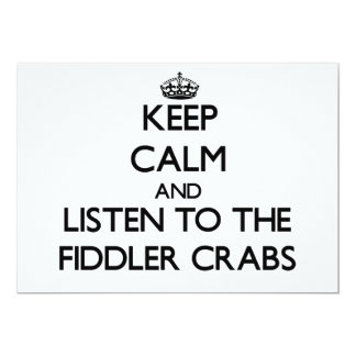 Keep calm and Listen to the Fiddler Crabs Custom Announcement