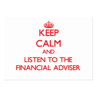 Keep Calm and Listen to the Financial Adviser Business Card