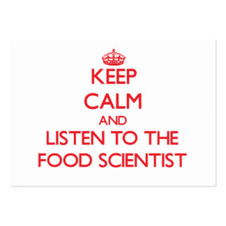Keep Calm and Listen to the Food Scientist Business Cards