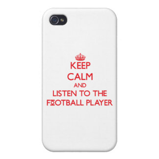 Keep Calm and Listen to the Football Player iPhone 4 Cases