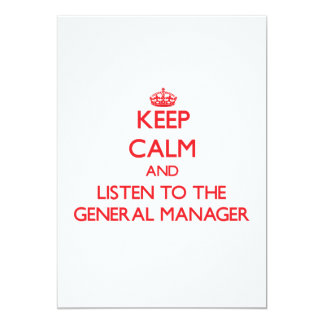 Keep Calm and Listen to the General Manager Personalized Announcement