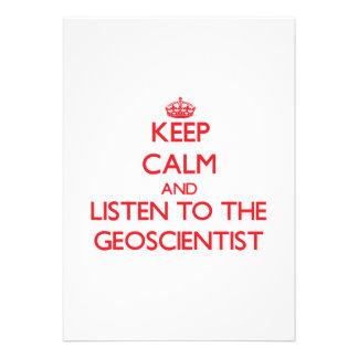 Keep Calm and Listen to the Geoscientist Custom Announcements