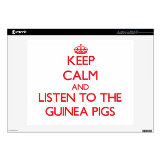 """Keep calm and listen to the Guinea Pigs Decals For 14"""" Laptops"""