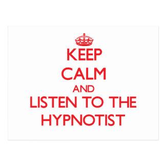 Keep Calm and Listen to the Hypnotist Postcard