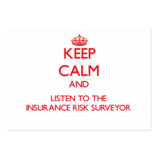 Keep Calm and Listen to the Insurance Risk Surveyo Business Card Template