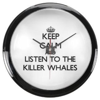 Keep calm and Listen to the Killer Whales Aquavista Clock