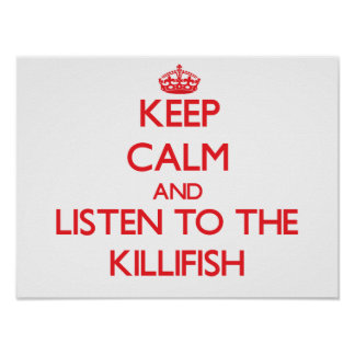 Keep calm and listen to the Killifish Poster