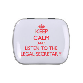 Keep Calm and Listen to the Legal Secretary Candy Tin