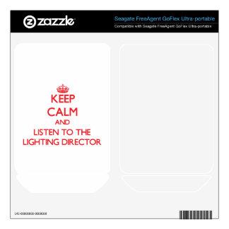 Keep Calm and Listen to the Lighting Director FreeAgent GoFlex Skin