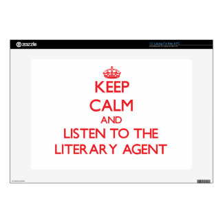 Keep Calm and Listen to the Literary Agent Decal For Laptop